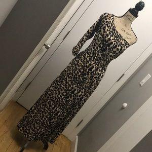 Leopard one shoulder dress